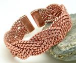 M48: Magnetic Copper Celtic Plait Bracelet
